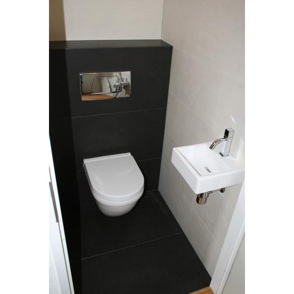 Toilet Assen strakke combinatie met vierkant fontein