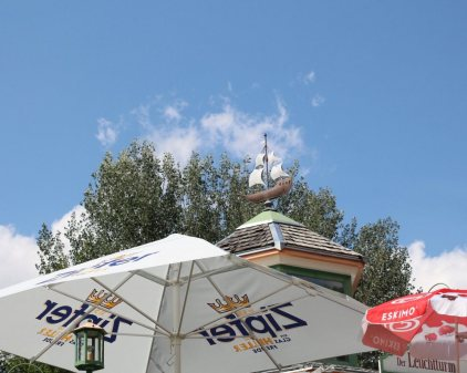 Leuchtturm am Badesee - Restaurant, Bar, Terrasse und Seegart'l, Foto: Knut Kuckel / #tirolbayern