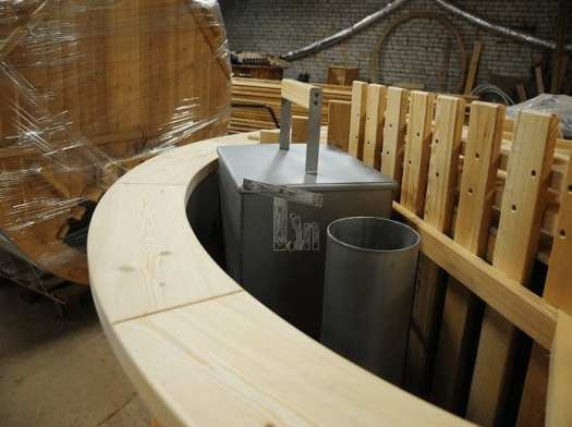 Einbau Des Holzbrenners In Badezuber Timberin 3