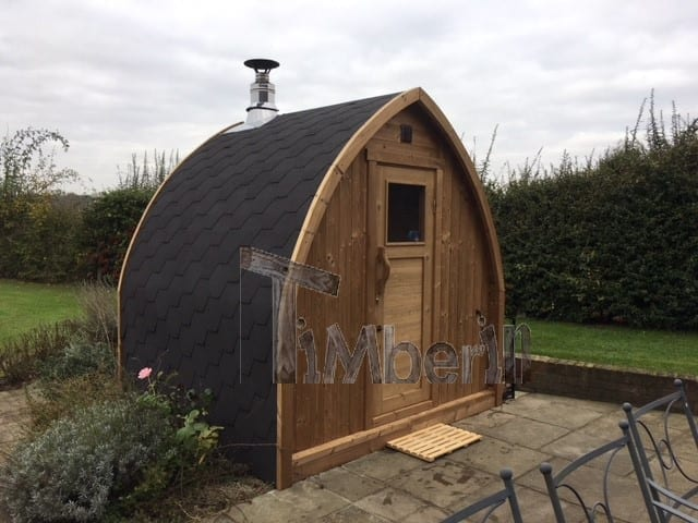 "2 M Small Outdoor Sauna Iglu With Wood Fired ""Harvia"" Heater, Peter Gales, Hertfordshire, UK (3)"