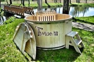 Holzbadetonne Basic Modell mit Innen oder Aussenofen (11)
