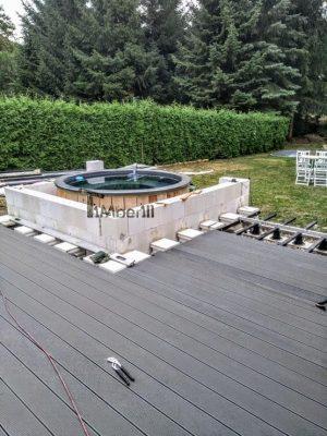 Badetonne Fiberglas Terrasse Einbaumodell Classic Modell (25)