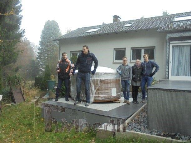403E1B79C40D4816B9C81796E51A5715 Badezuber mit integriertem Ofen, Wellness Deluxe, Jörg, Enger, Deutschland