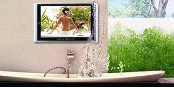 Badezimmer TV  Wasserdichten Fernseher fr Badezimmmer und Garten