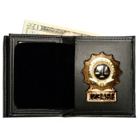 Hidden Badge Wallet w/ Money Pocket | Badge And Wallet