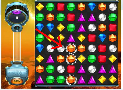 Bejeweled Twist - Fruit Gems - Sparkles Show Matches
