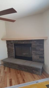 Novus Gas Fireplace With Wall To Wall Mantel   Badgerland ...