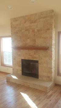Novus Gas Fireplace Insert with ProLine Stone Veneer ...
