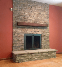 Mukwonago Masonry Fireplace Installation   Badgerland ...