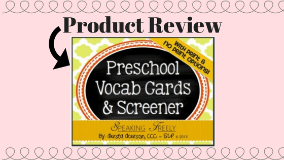 Product Review:  Basic Vocabulary Screener from Speaking Freely SLP