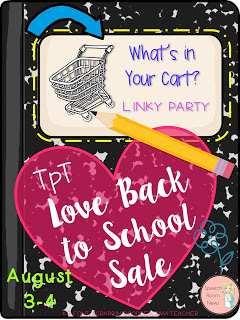 Back to School Sale on TPT:  What's in Your Cart?