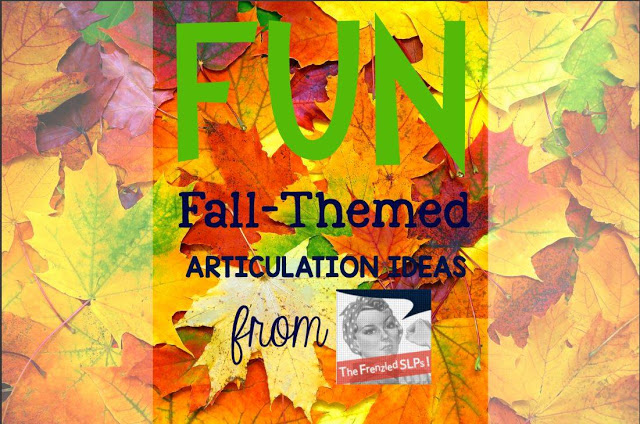Fun Fall-Themed Articulation Ideas