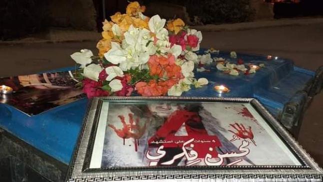ورود تزين فضاءات بالحسيمة بمناسبة ذكرى وفاة محسن فكري