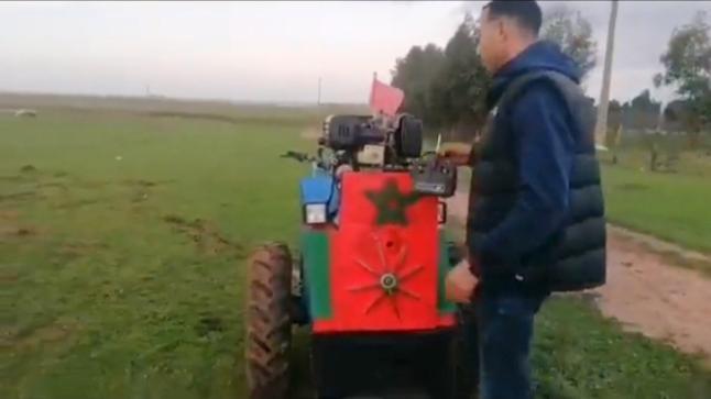 شاب مغربي يخترع آلة للحرث عن بعد