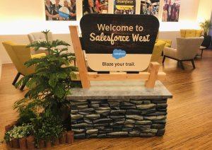 Valon Badivuku at Waiting room West in Salesforce SF HQ