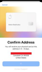 My Apple Card