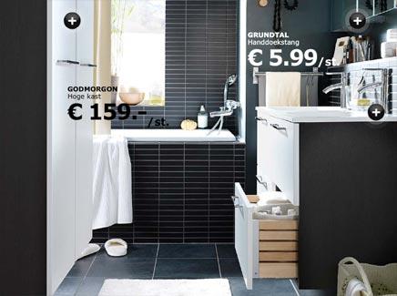 Badkamer van IKEA met hoge kast  Badkamers voorbeelden