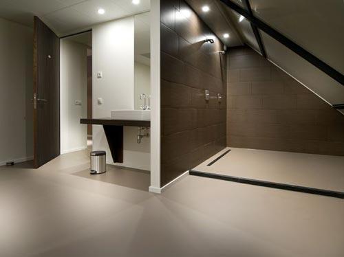 Gietvloer in badkamer  Badkamers voorbeelden