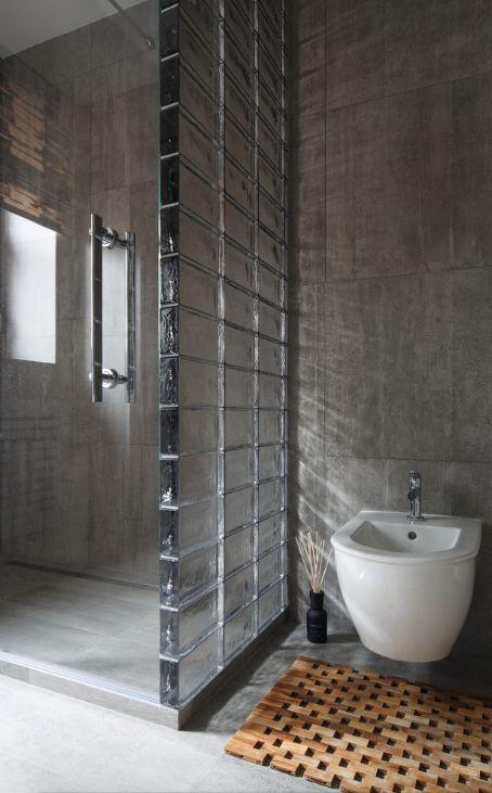 Glazen bouwstenen in de badkamer  Badkamers voorbeelden