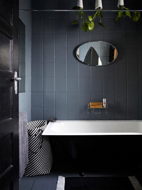 Kleine grijze badkamer inspiratie  Badkamers voorbeelden