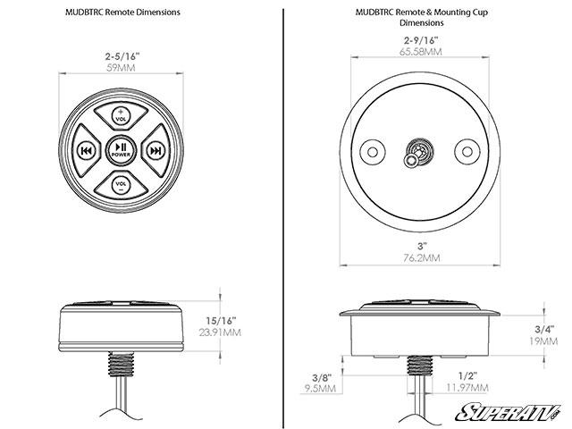 SuperATV MTX Universal Bluetooth Receiver/Remote » Bad