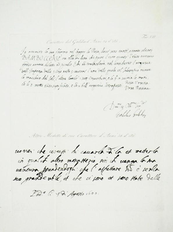 Galileo GALILEI : Galileiana. GALILEI. Memorie e lettere
