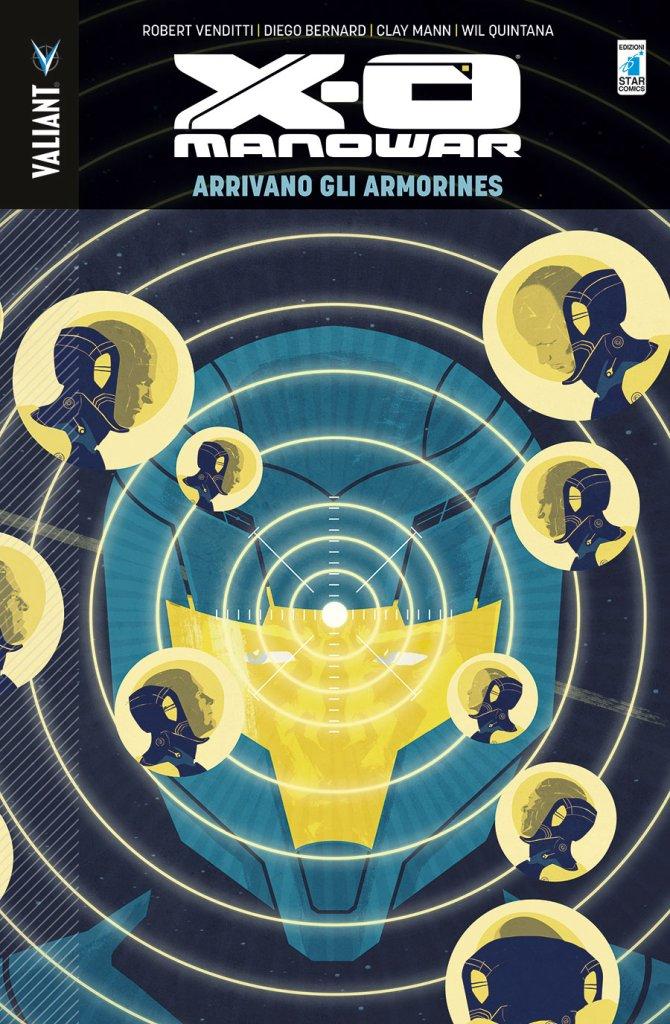 X-O Manowar vol. 8: Arrivano gli Armorines, copertina di Raul Allen