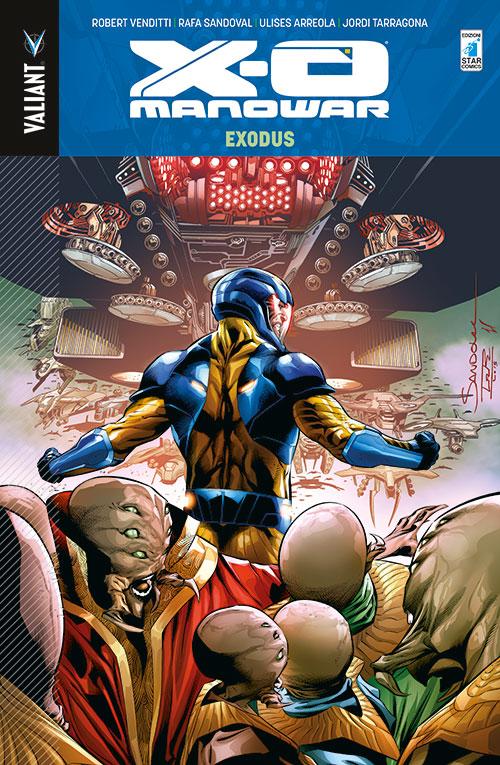 X-O Manowar vol. 10: Exodus, copertina di Rafa Sandoval