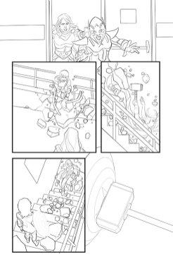 Avengers #8, anteprima 03 (matite)