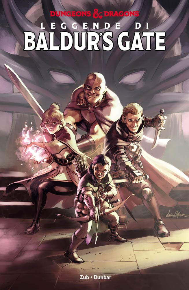 Dungeons & Dragons: Leggende di Baldur's Gate, copertina di David Lopez