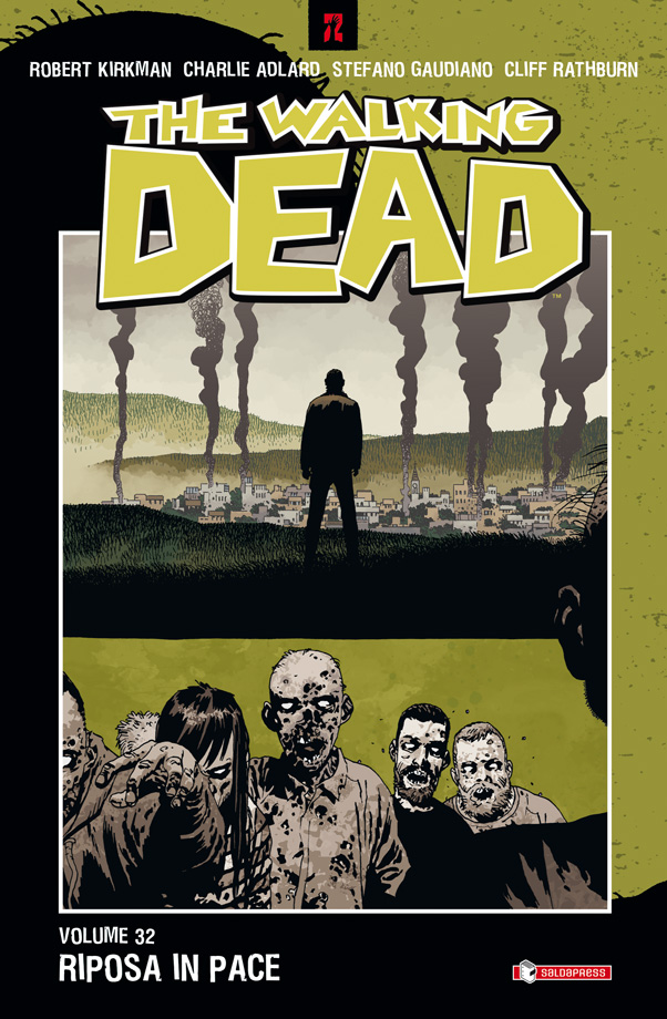 The Walking Dead vol. 32: Riposa in pace, copertina di Charlie Adlard