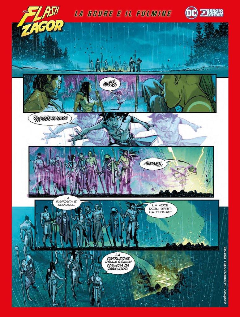 Flash/Zagor: La scure e il fulmine, anteprima 01