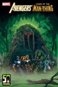Avengers: Curse of the Man-Thing 1, copertina di Daniel Acuna