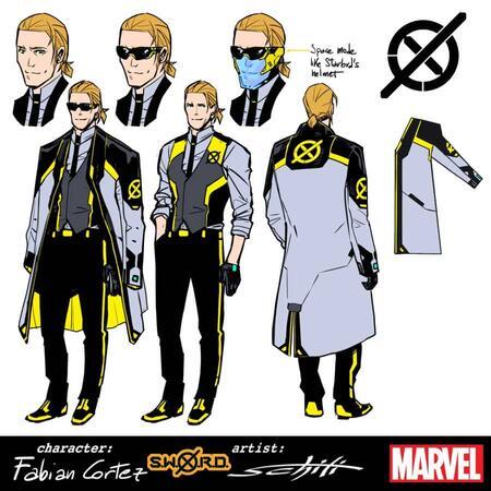 S.W.O.R.D.: Fabian Cortez, character design di Valerio Schiti