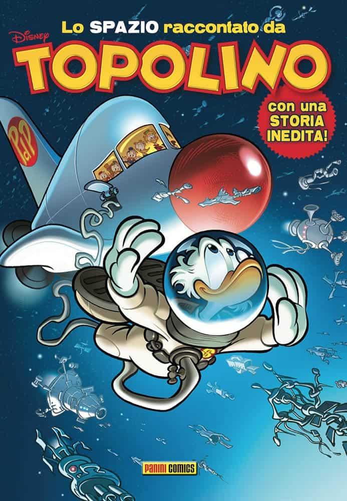 Lo spazio raccontato da Topolino, copertina di Paolo Mottura