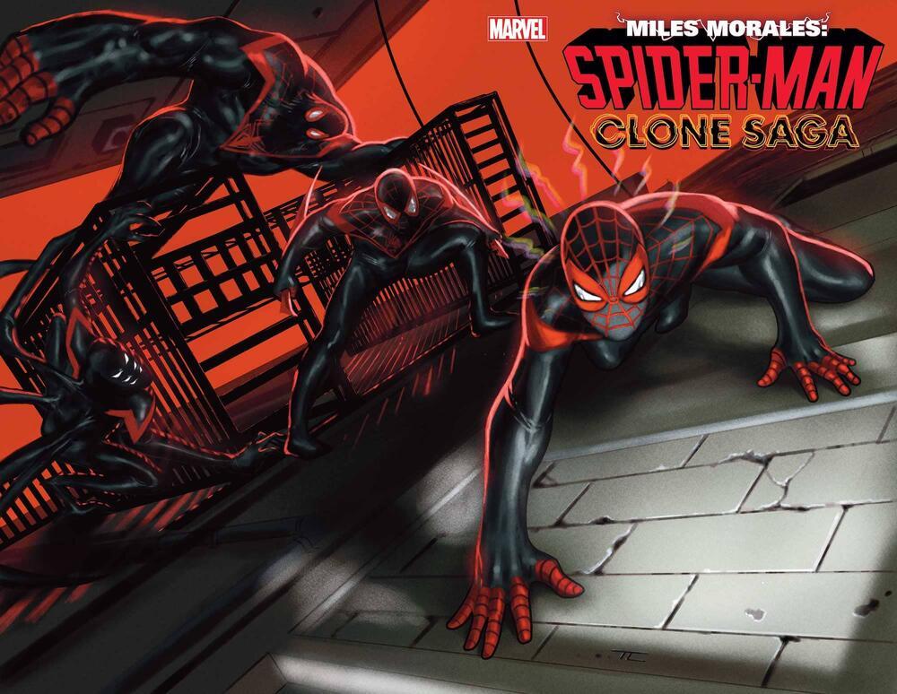 Miles Morales: Spider-Man #25, copertina di Taurin Clarke