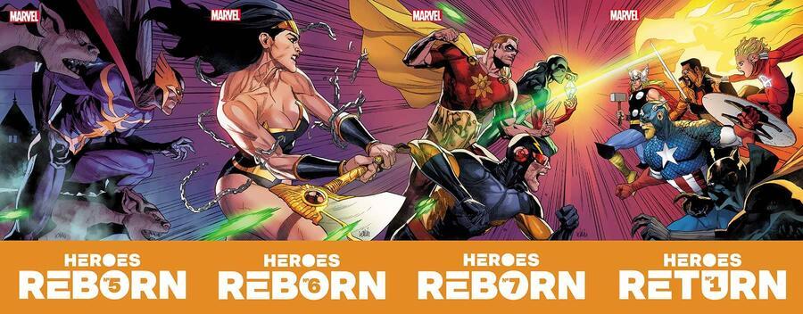 Heroes Reborn, copertina panoramica di Leinil Francis Yu