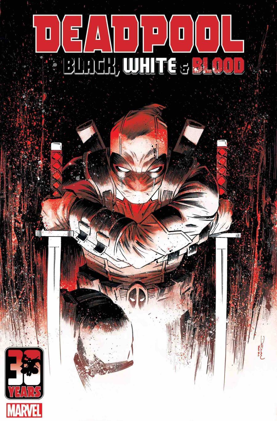 Deadpool: Black, White & Blood, copertina di Declan Shalvey