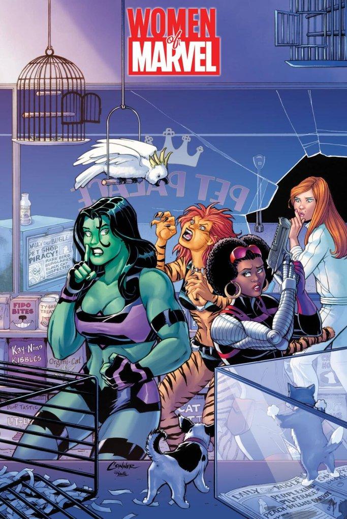 Women of Marvel #1, variant cover di Amanda Conner