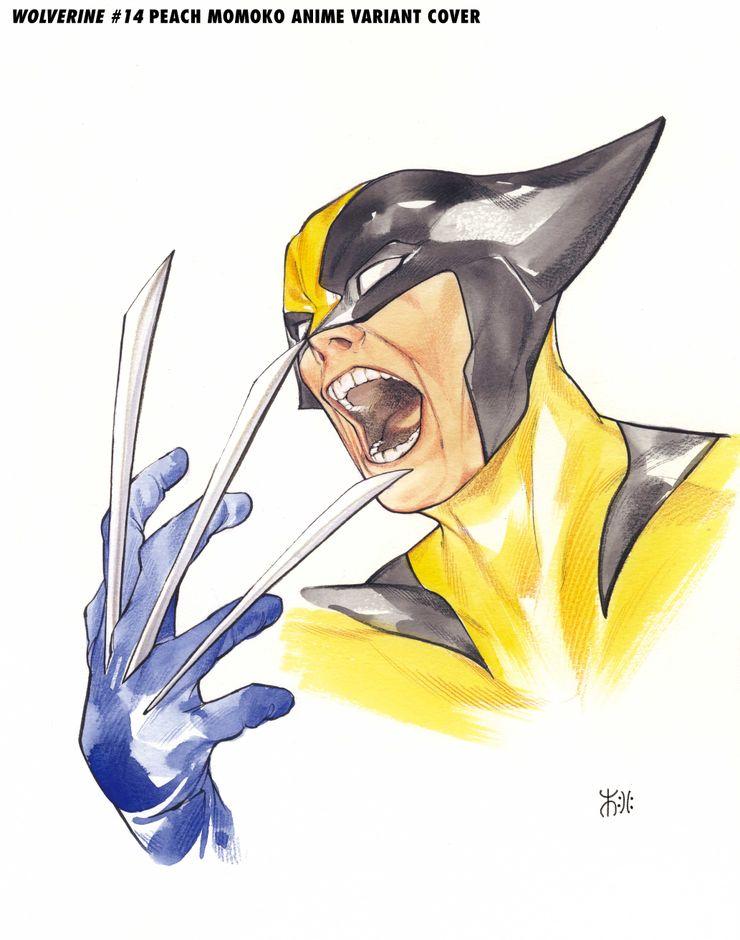 Wolverine #14, variant cover di Peach Momoko