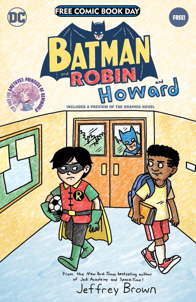 Batman And Robin And Howard Free Comic Book Day Special, copertina di Jeffrey Brown
