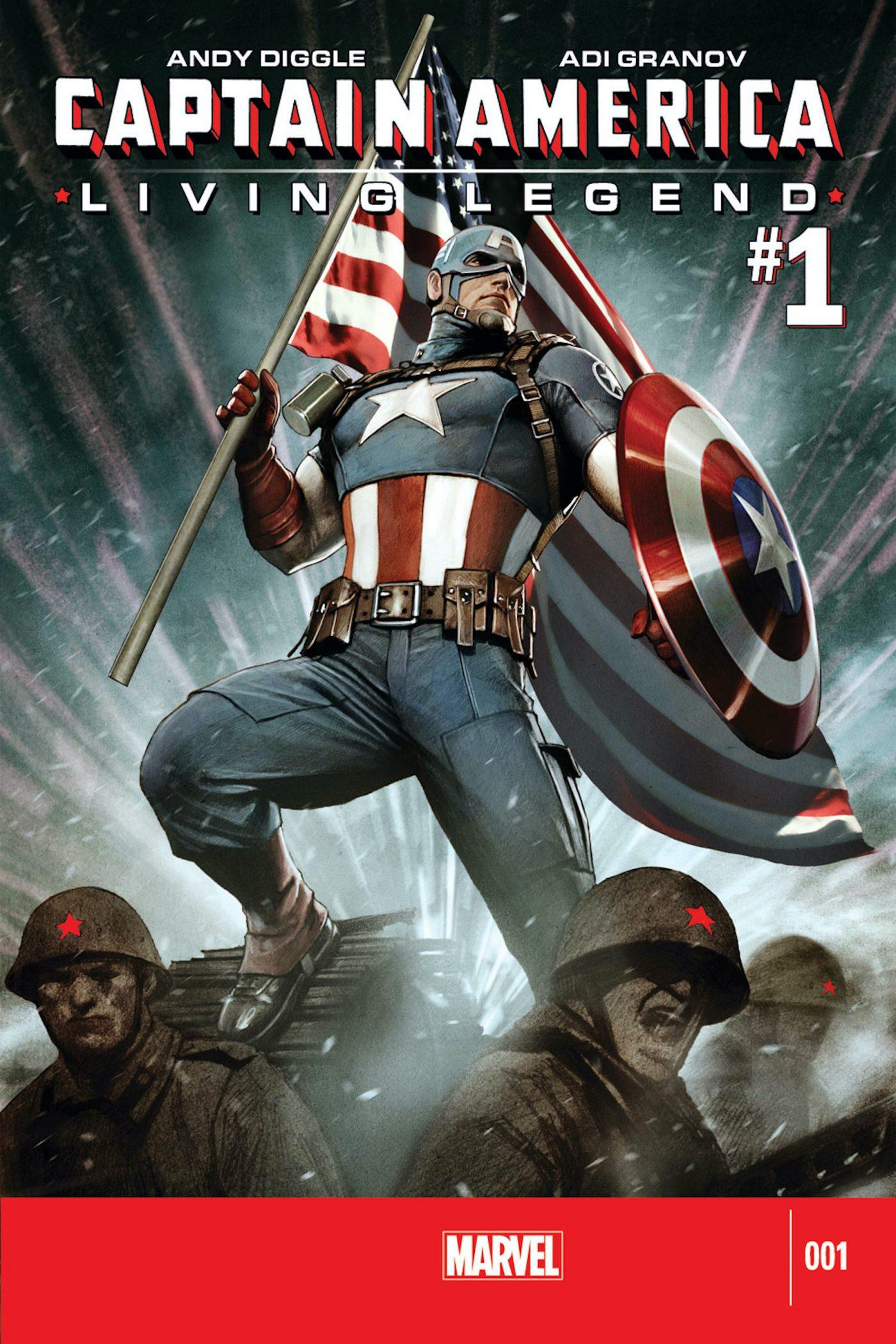 Captain America: Living Legend #1, copertina di Adi Granov