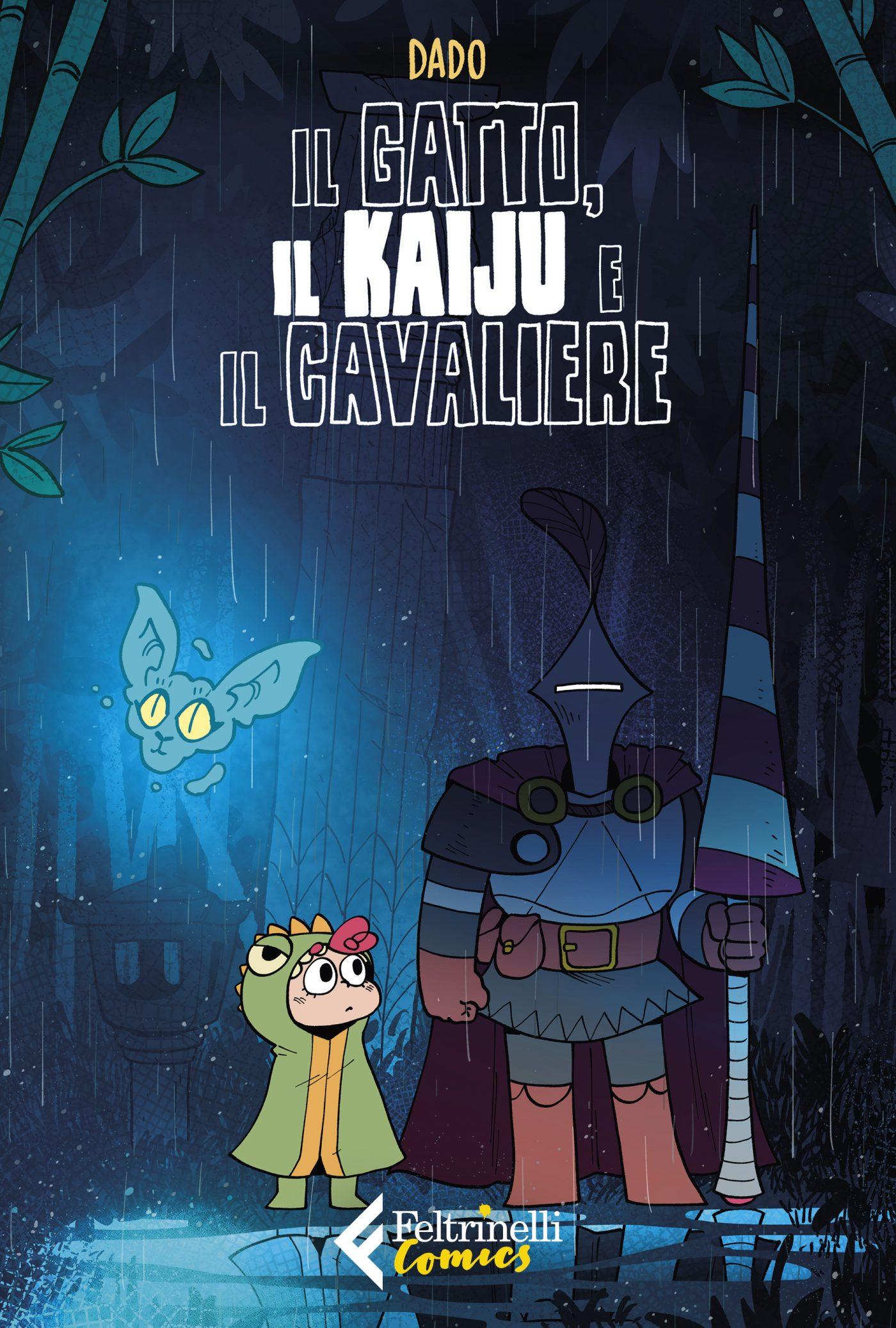 Il gatto, il kaiju e il cavaliere, copertina di Dado