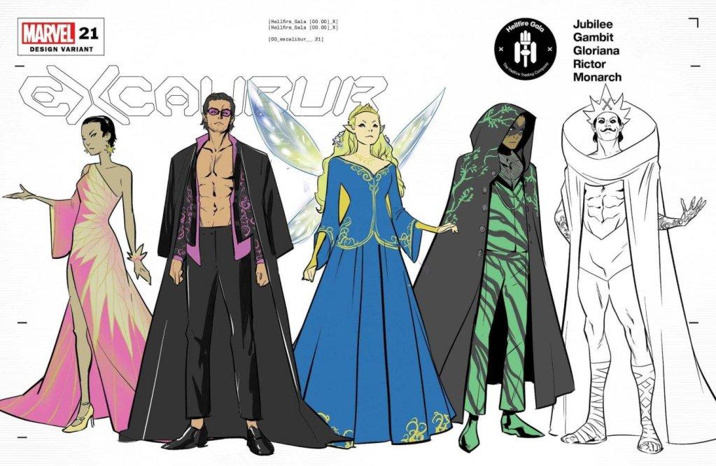 Excalibur #12, variant cover di Marcus To