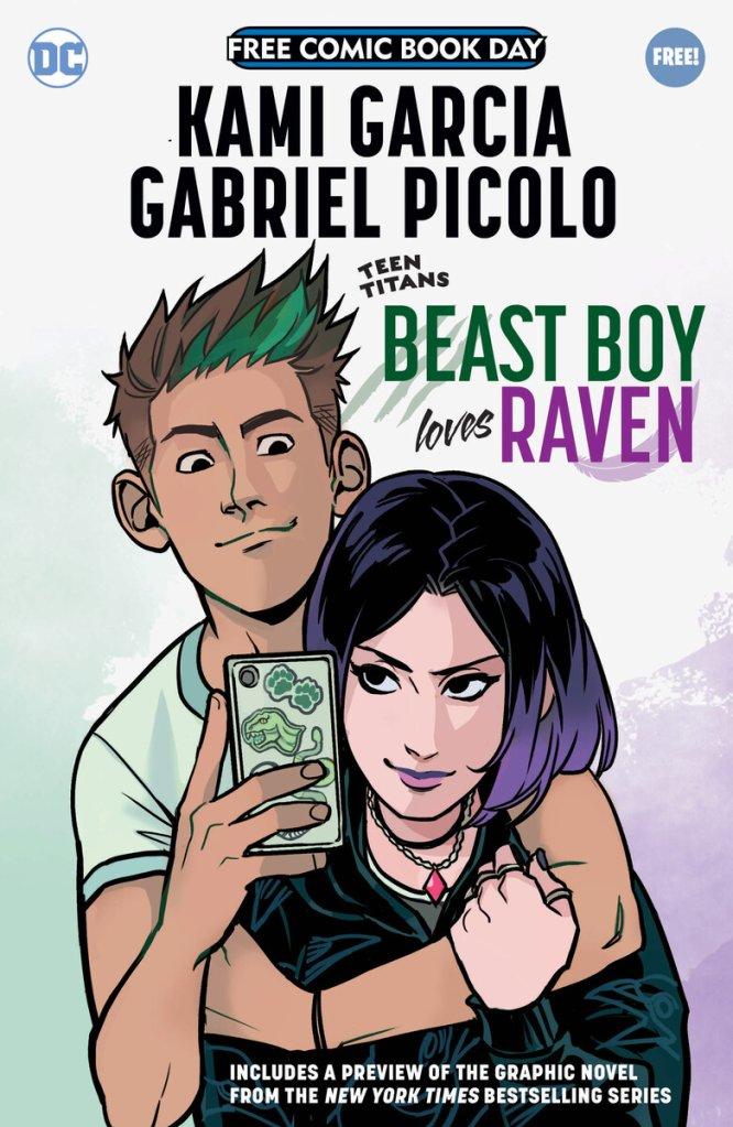 Teen Titans: Beast Boy Loves Raven Special Edition, copertina di Gabriel Picolo