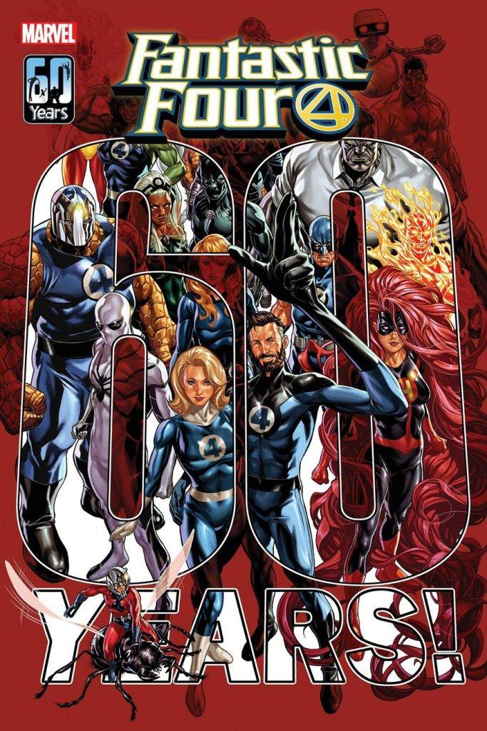 Fantastic Four #35, copertina di Mark Brooks