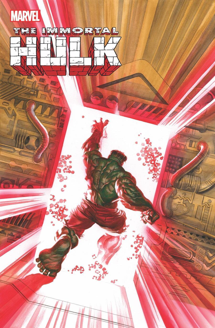 Immortal Hulk #49, copertina di Alex Ross