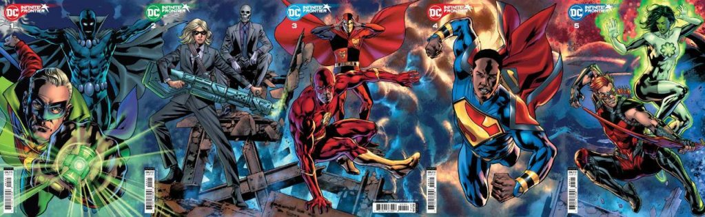 Infinite Frontier: Secret Files #1, copertina componibile di Bryan Hitch