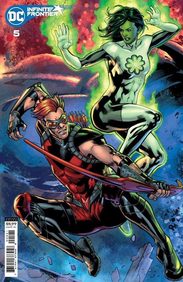 Infinite Frontier #5, variant cover di Bryan Hitch