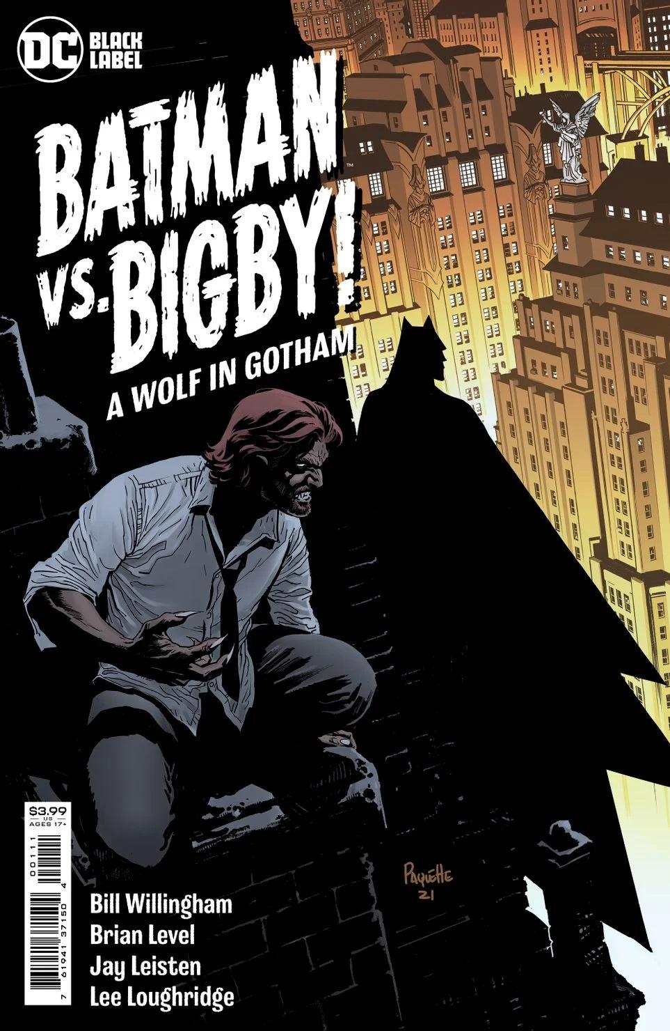 Batman vs. Bigby #1, copertina di Yanick Paquette